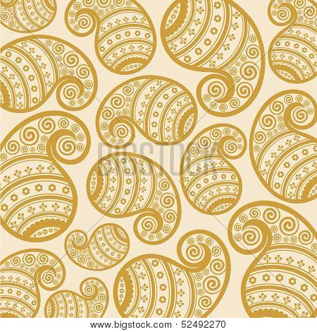 Pattern based on traditional Asian elements Paisley stock vector