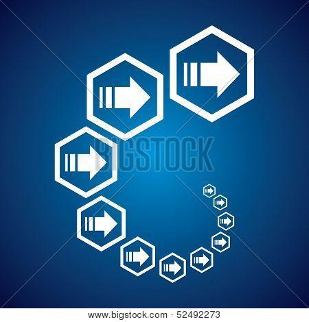 Business arrows concept stock vector