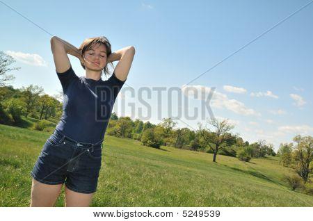 Woman Enjoying Life Outdoors