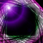 Fantastic futuristic technology background design with lights poster