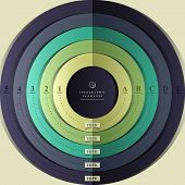 modern vector abstract 3d target infographic elements poster