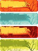 vector illustration set of colorful banners with disign elements poster