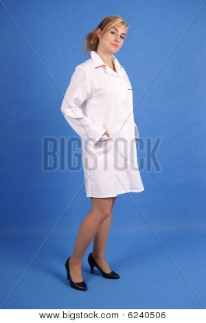 Medical professional standing
