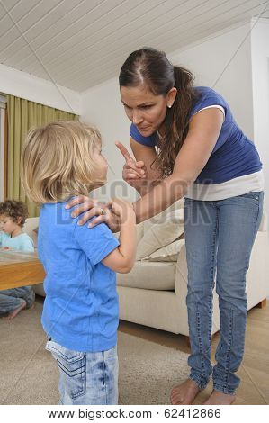 woman scolding a child