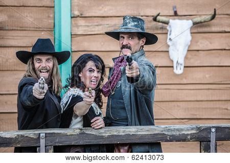 Old West Trio Yells