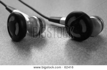 Black And White Earphones
