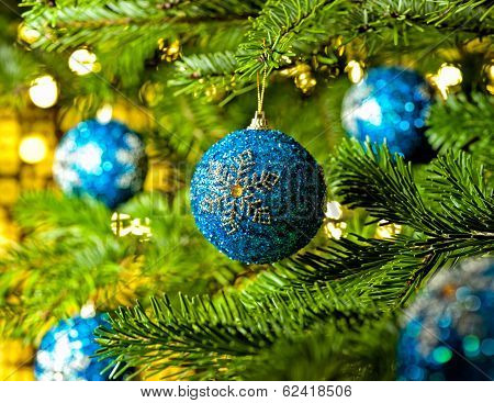 Ornament In A Christmas Tree