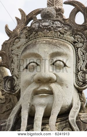 Traditional statue at the temple Wat phra kaeo in Bangkok, Thailand