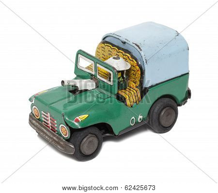 Retro Toy Military car
