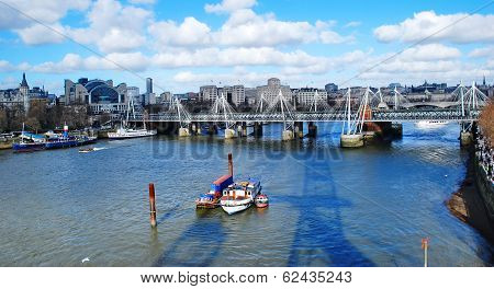 Hungerford Bridge On The Thames