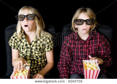 Two Kids At A Scary 3-d Movie