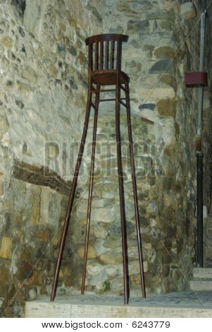 Long legged chair
