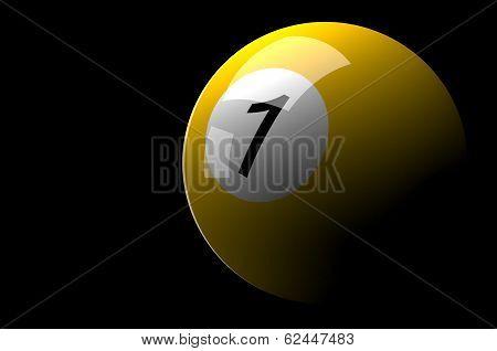 Billiard ball isolated on Dark background