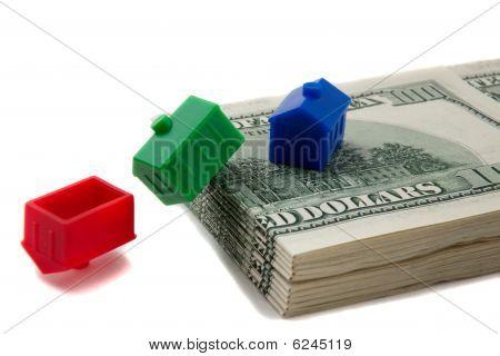 House Toppling Over Money