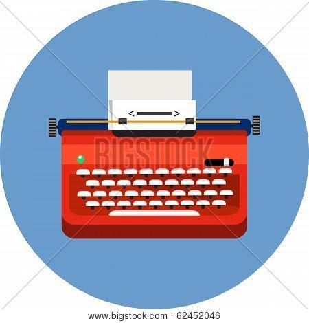Ttypewriter and paper sheet