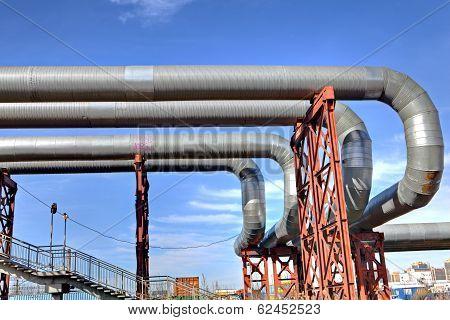 Bridge Pipeline Aboveground Heating Duct
