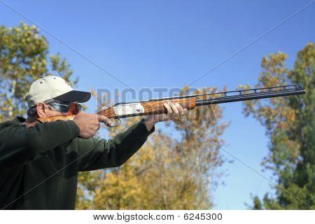 Man Bird Hunting