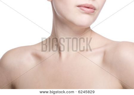 Closeup Shot Of Neck And Shoulder