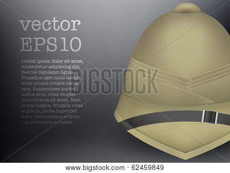 pith helmet hat for safari or explorer vector