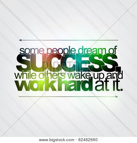 Work Hard For Success