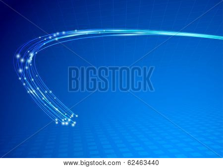 Cable Impulse Abstract Background Template