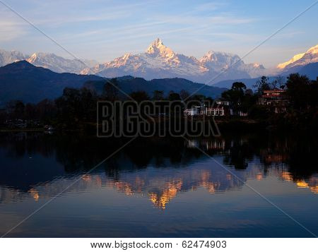 Reflections In Phewa Tal