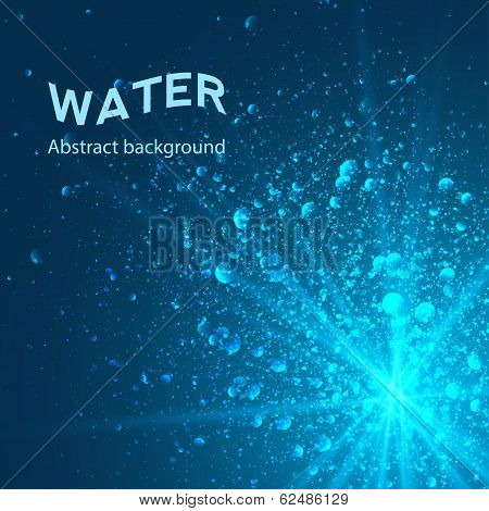 under water eps 10 vector background abstract poster