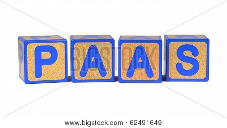 PAAS - Colored Childrens Alphabet Blocks.