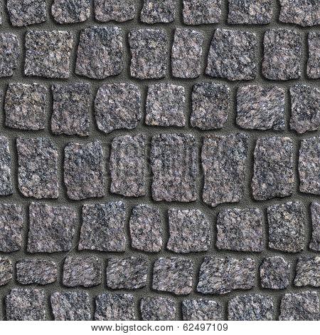 Granite Sett. Seamless Tileable Texture.