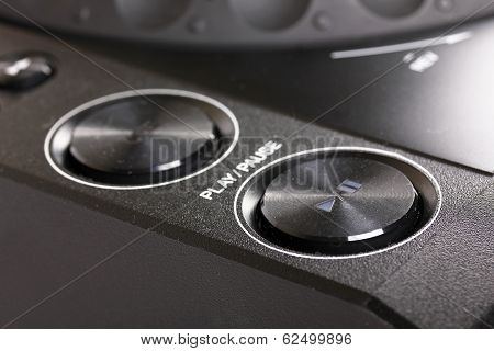 Play And Stop Buttons On Dj Cd Player