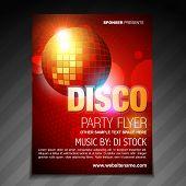 vector disco party flyer brochure poster template design poster
