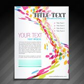 vector colorful wave brochure flyer magazine cover and poster template poster