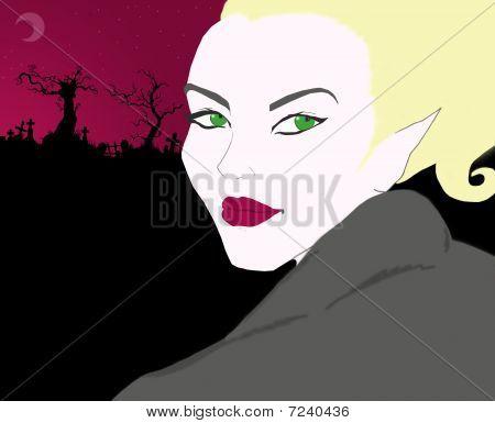 Cute vampire