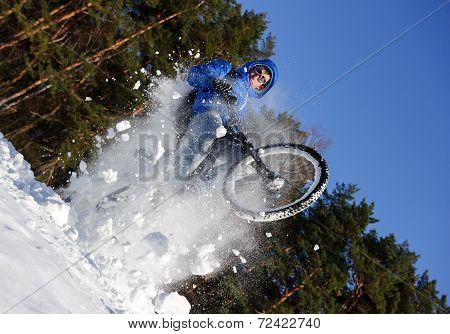 Cyclist biking bicycle