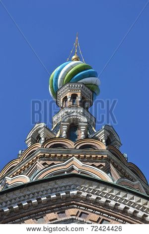 Dome Of Orthodox Church Spas Na Krovi