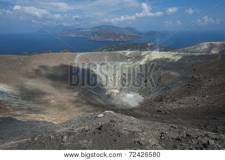 vulcano at Eolie Islands