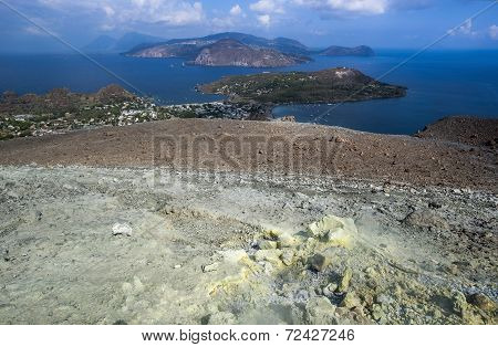 Lipari coast from Vulcano