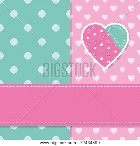 cute baby girl greeting card