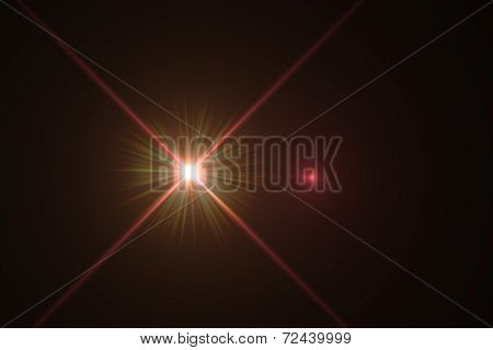 digital lens flare in black background horizontal frame poster