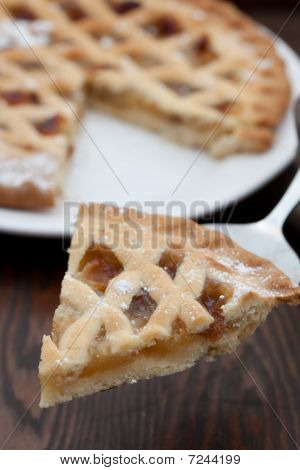 Slice Of Freshly Baked Apple Pie
