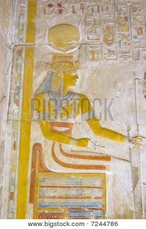 Ancient Egyptian Goddess Isis on her Throne