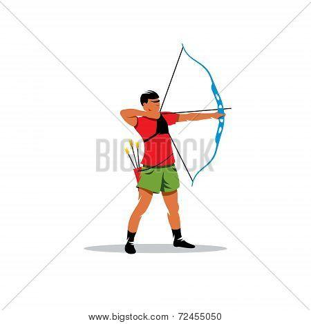 Athlete Archery Vector Sign