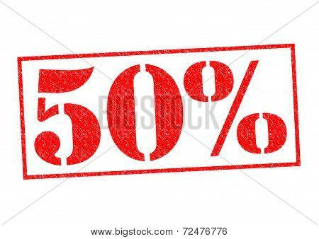 50% Rubber Stamp