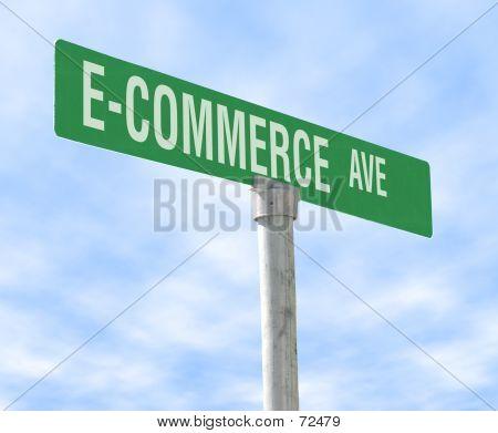 E-Commerce Themed Street Sign