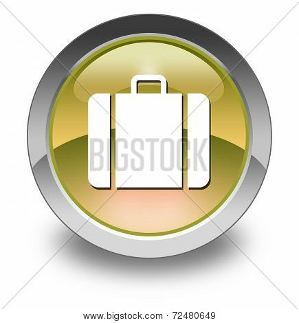 Image Graphic Icon Button Pictogram with Luggage symbol poster