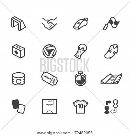 World Cup Soccer Element Vector Black Icon Set On White Background
