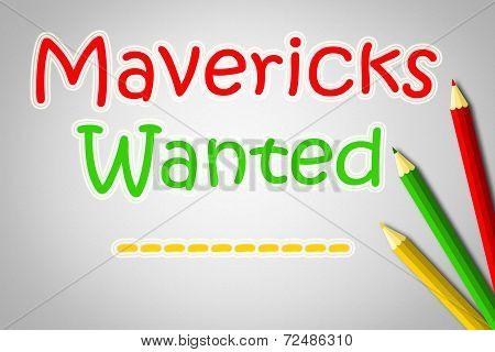 Mavericks Wanted Concept