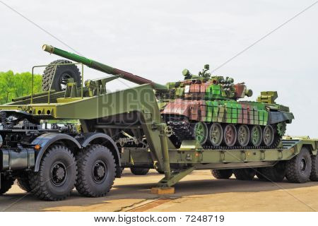 Tank on trailer