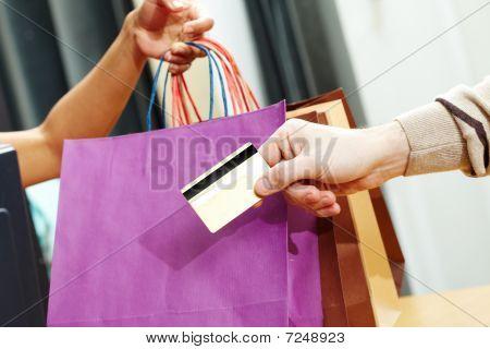 Tarjeta de crédito de paso