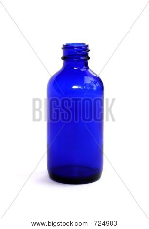 Blue Medicine Bottle